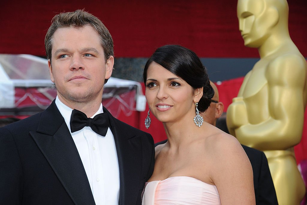 Matt Damon and wife Luciana Damon arrives at the 82nd Annual Academy Awards held at Kodak Theatre on March 7, 2010 in Hollywood, California | Photo: GettyImages