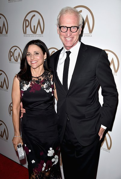 Julia Louis-Dreyfus and Brad Hall attend the 26th Annual Producers Guild Of America Awards at the Hyatt Regency Century Plaza on January 24, 2015, in Los Angeles, California. | Source: Getty Images.