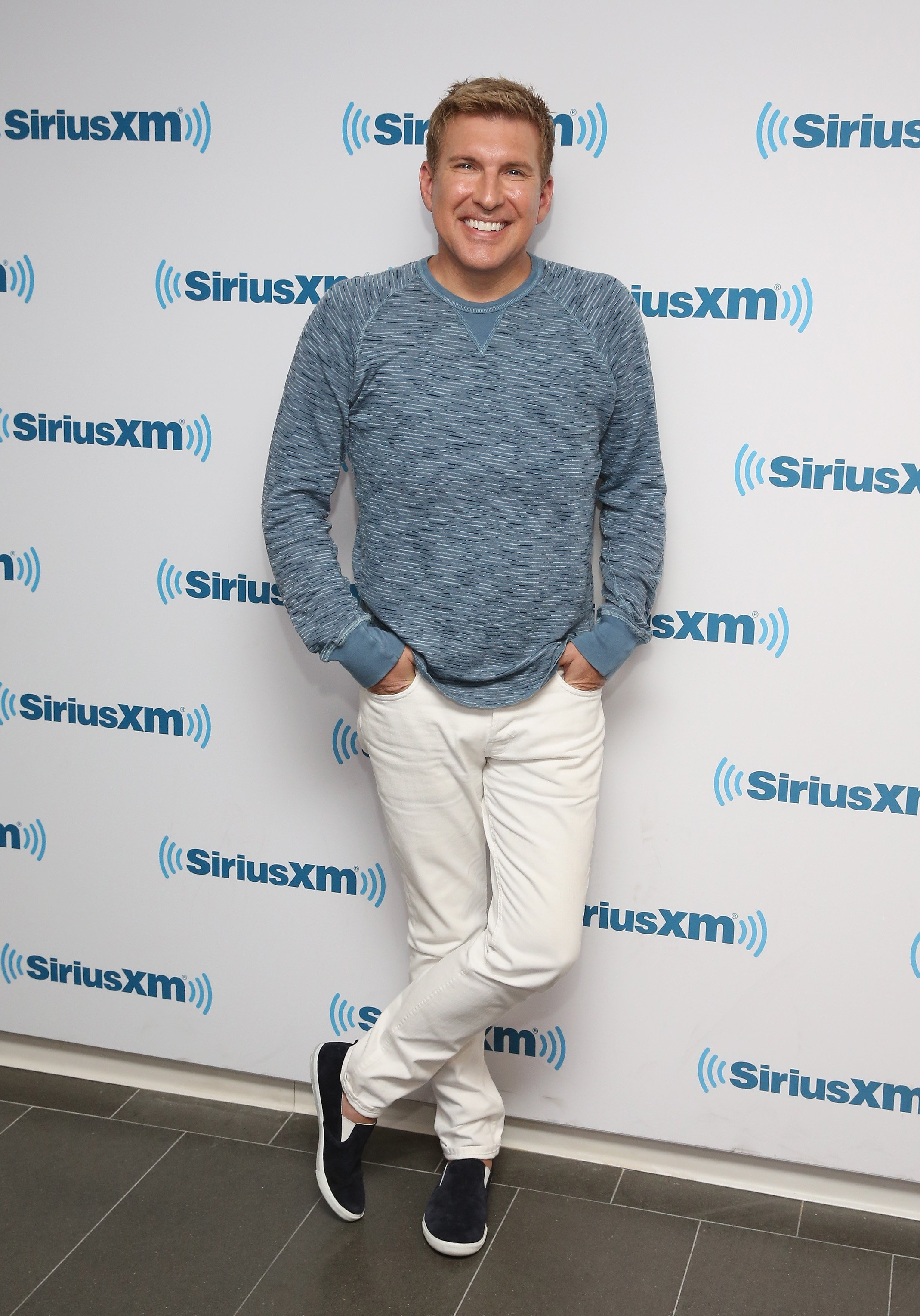 """Businessman Todd Chrisley, who stars on the show, """"Chrisley Knows Best,"""" visits the SiriusXM Studios in 2015 in New York City."""