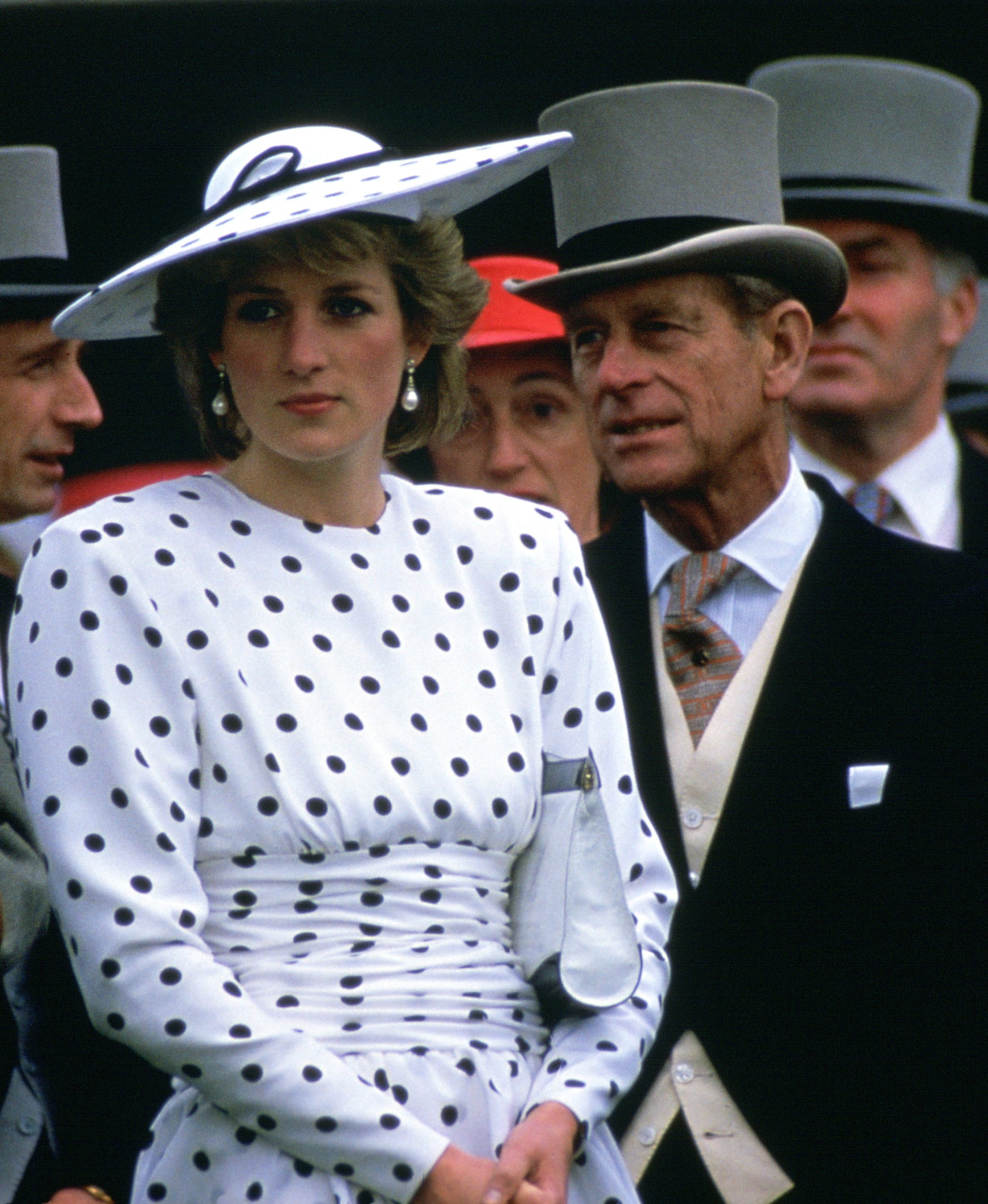 Pictured - Diana, Princess of Wales with Prince Philip on Derby Day | Photo: Getty Images