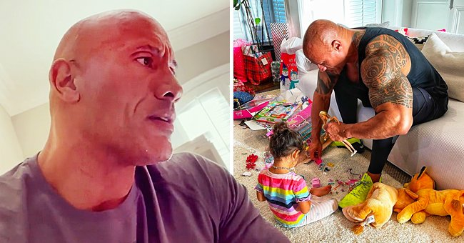 Dwayne 'The Rock' Johnson Puts His Work on Hold So He Can Play with 2-Year-Old Daughter, Tiana