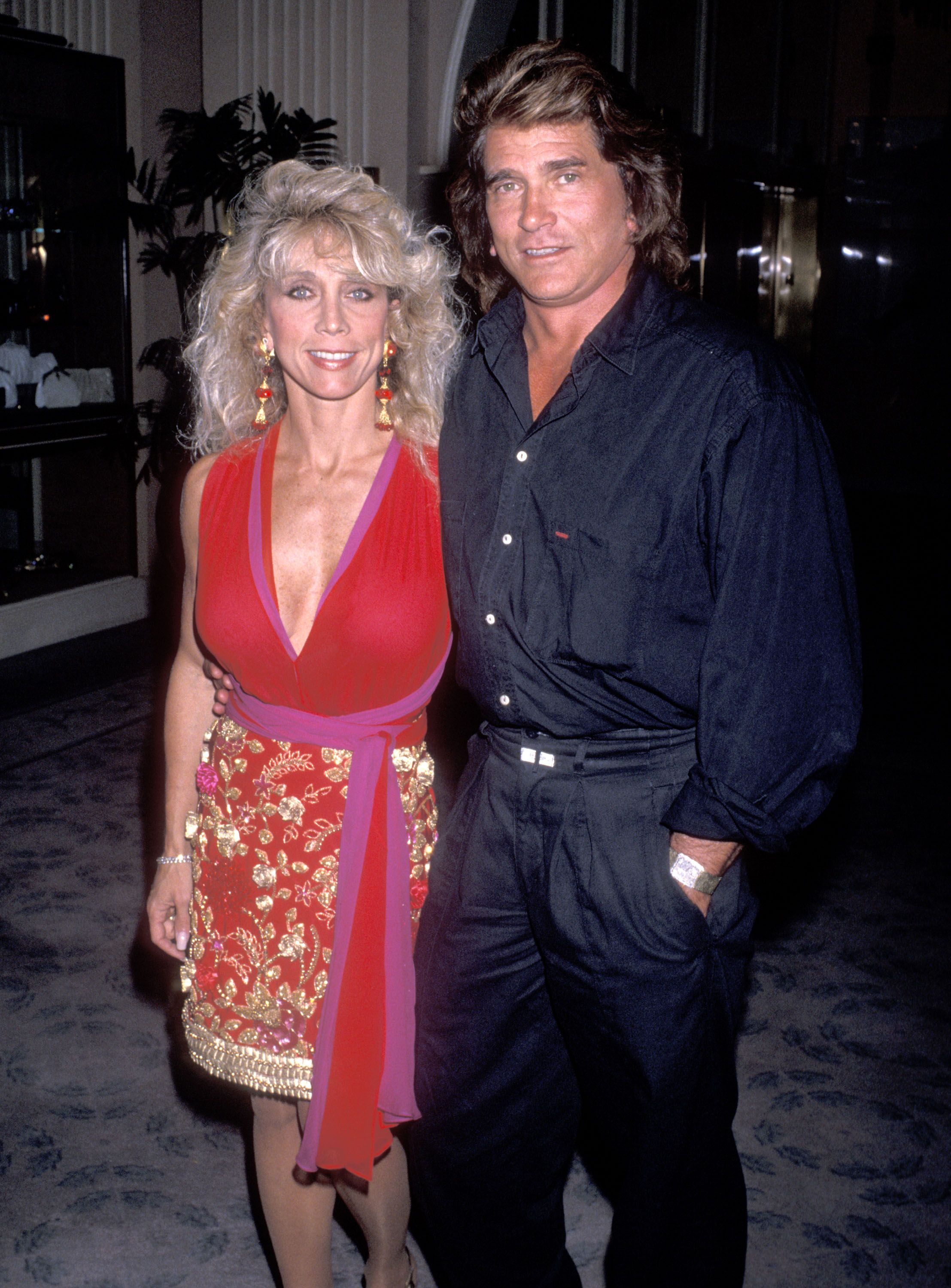 Michael Landon and wife Cindy Landon attend the National Down Syndrome Congress' Third Annual Michael Landon Celebrity Gala in 1989 | Source: Getty Images