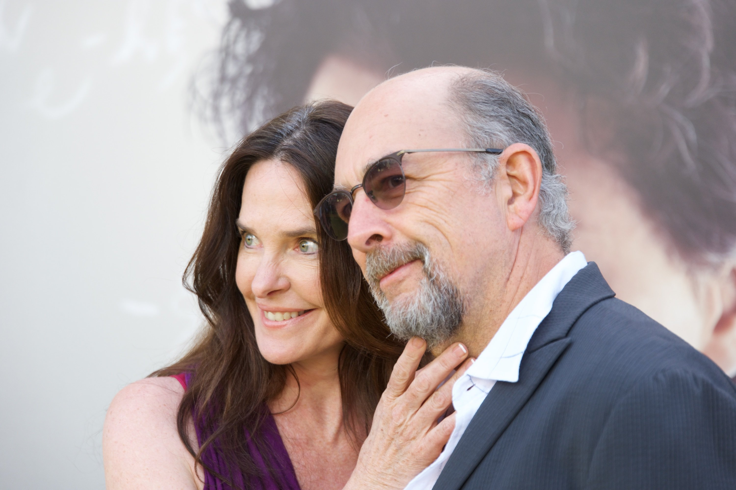 "Sheila Kelley and Richard Schiff attend the premiere of National Geographic's ""Genius"" in Los Angeles on April 24, 2017 