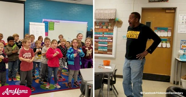 Deaf custodian, 60 is surprised by kindergartners' performance for his birthday