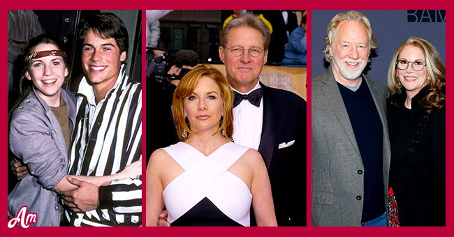 Melissa Gilbert with her three husbands, Rob Lowe, Bruce Boxleitner, and Tim Busfield. | Source: Getty Images