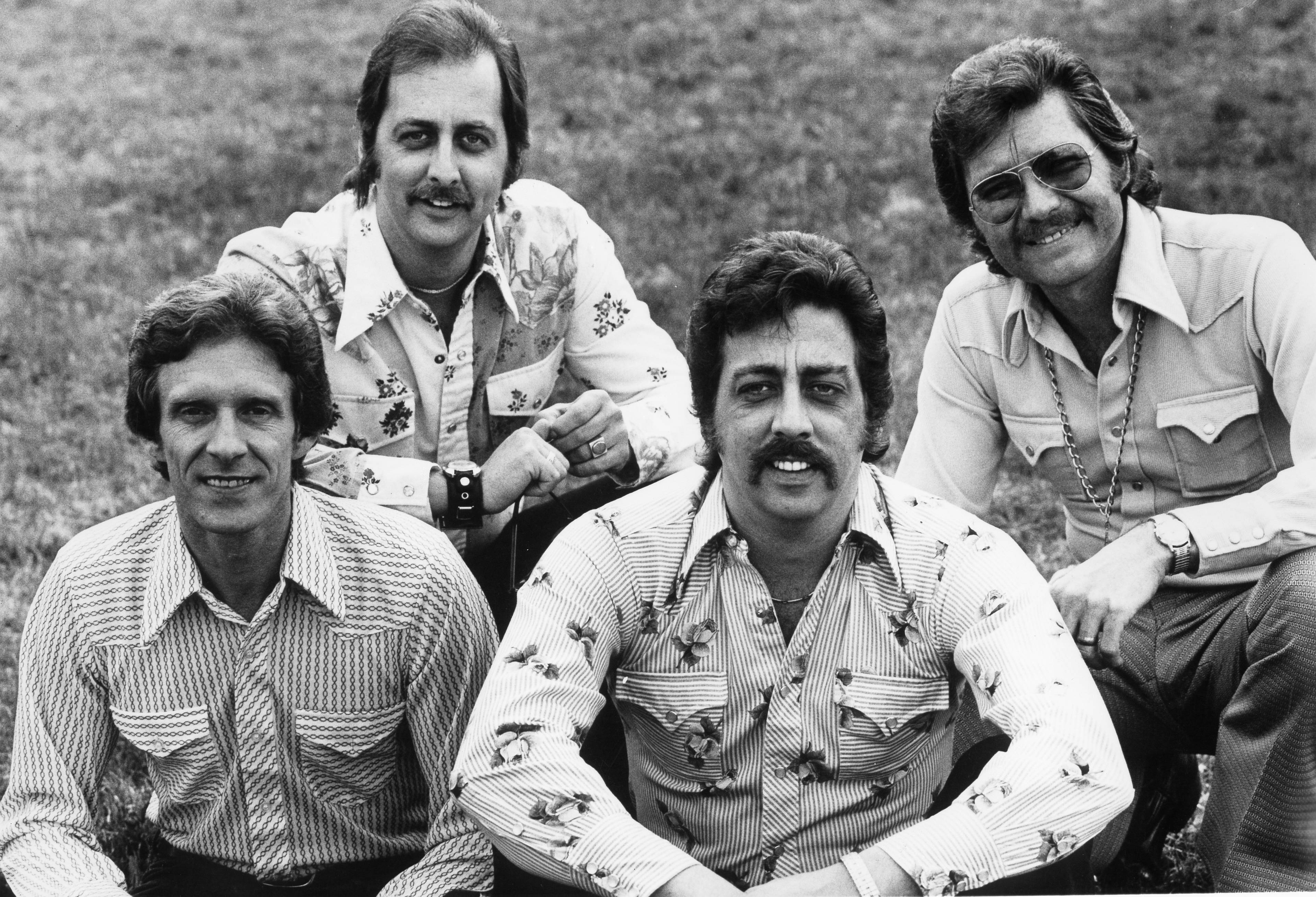 "The Statler Brothers, authors of ""Flowers on the Wall"" and ""Bed of Roses"" from left to right: Phil Balsley, Don Reid, Harold Reid and Lew DeWitt 
