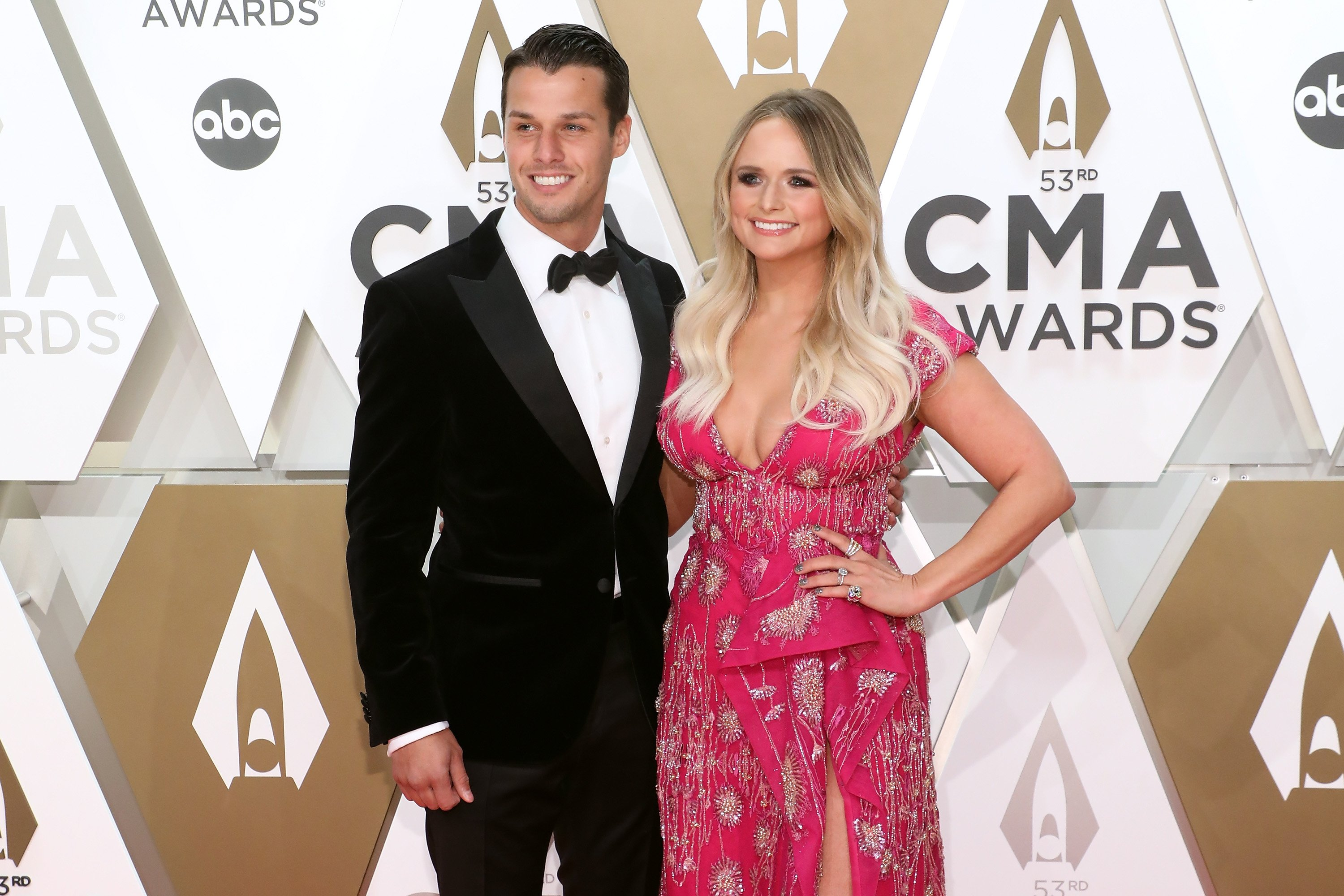 """""""Bluebird"""" singer Miranda Lambert and husband Brendan McLoughlin graced the 53rd Annual Country Music Awards in Nashville in 2019. 