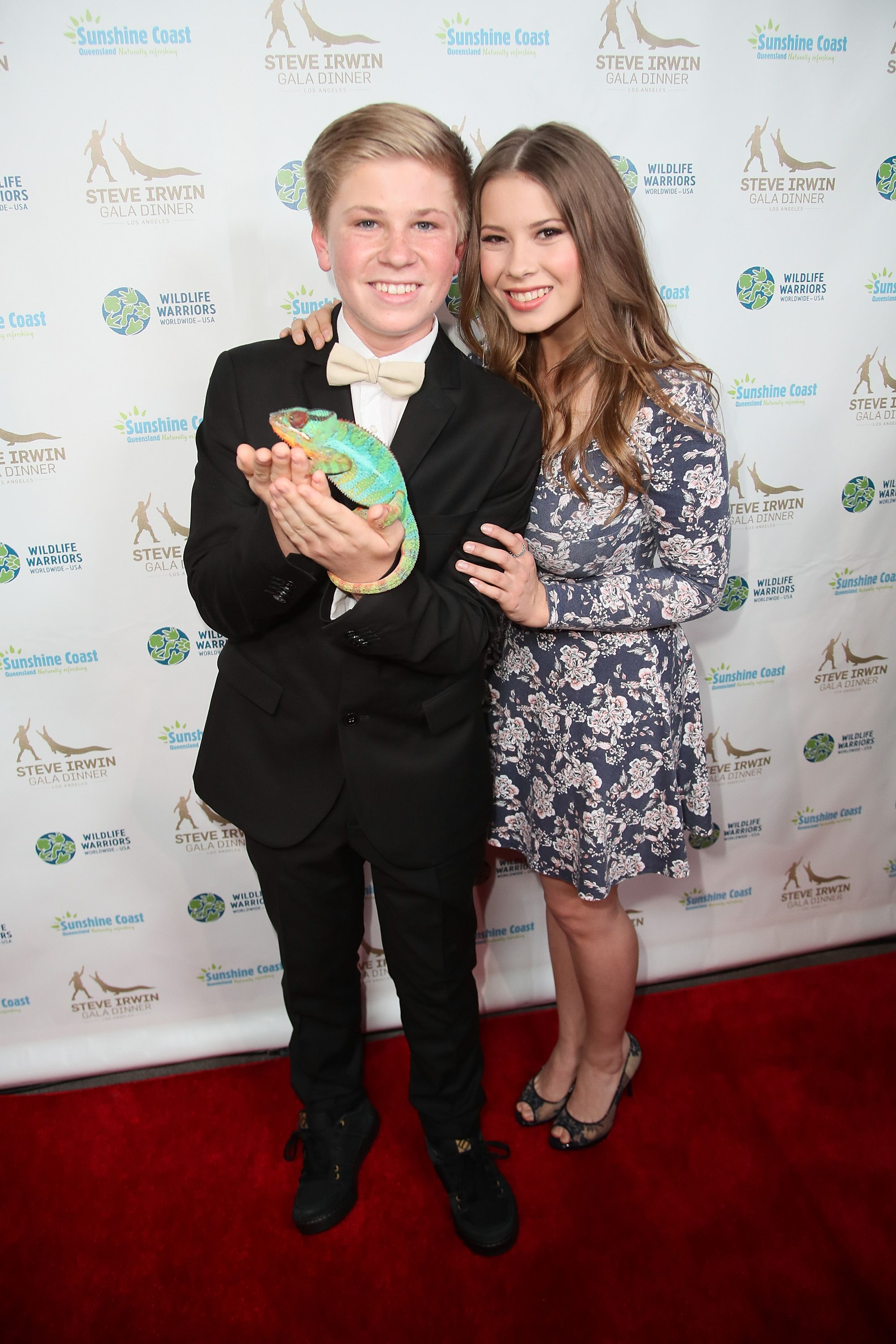 Robert and Bindi Irwin at the Steve Irwin Gala Dinner at the SLS Hotel in Beverly Hills on May 13, 2017, in Los Angeles, California | Photo: David Livingston/Getty Images