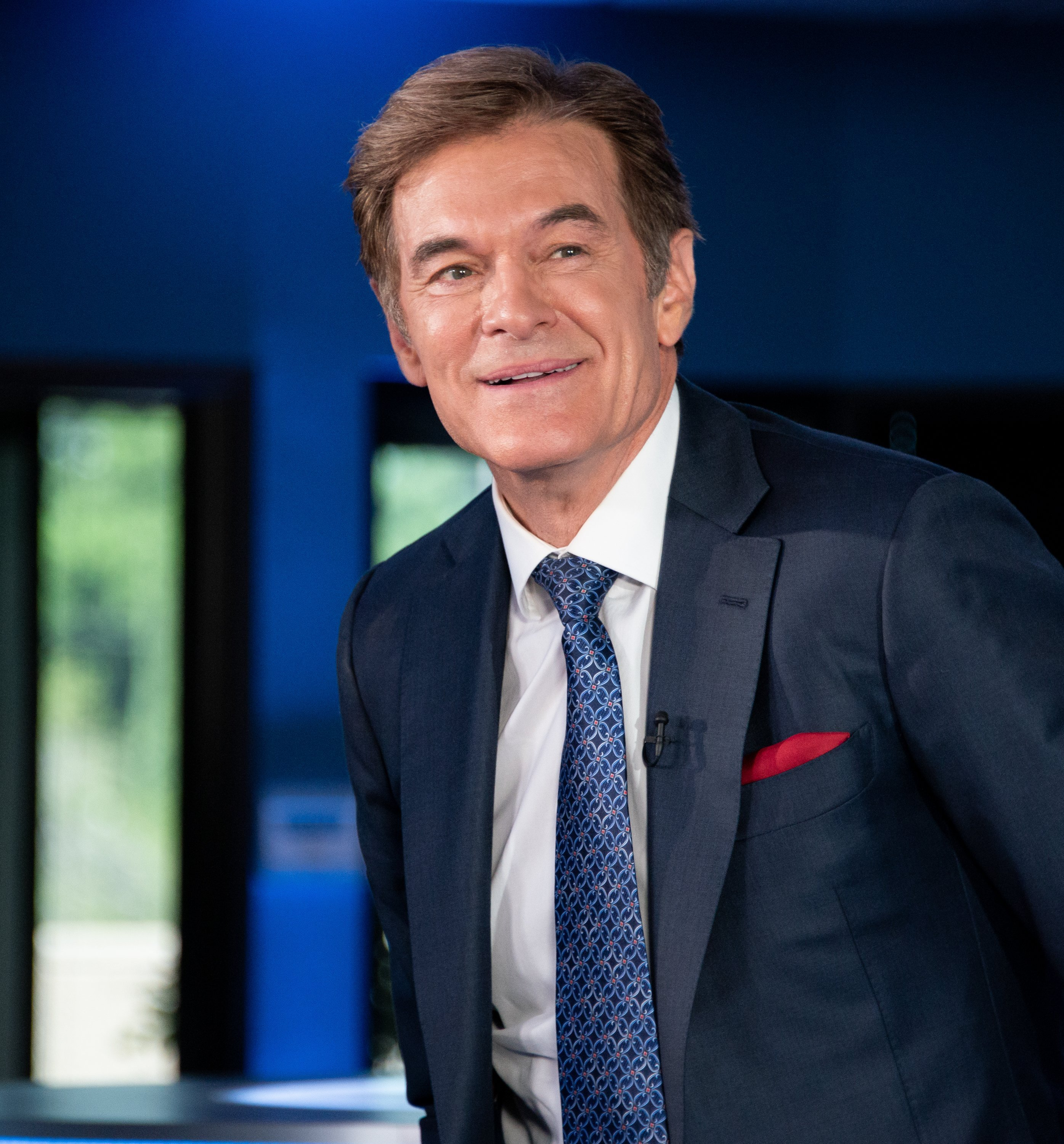 """Dr. Mehmet Oz visits """"Extra"""" at Burbank Studios on September 17, 2019, in Burbank, California. 