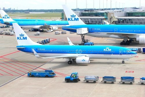 Planes of KLM Royal Dutch Airlines - Air France. | Source: Shutterstock