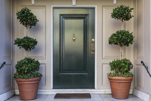 The front door of a house. | Source: Shutterstock.