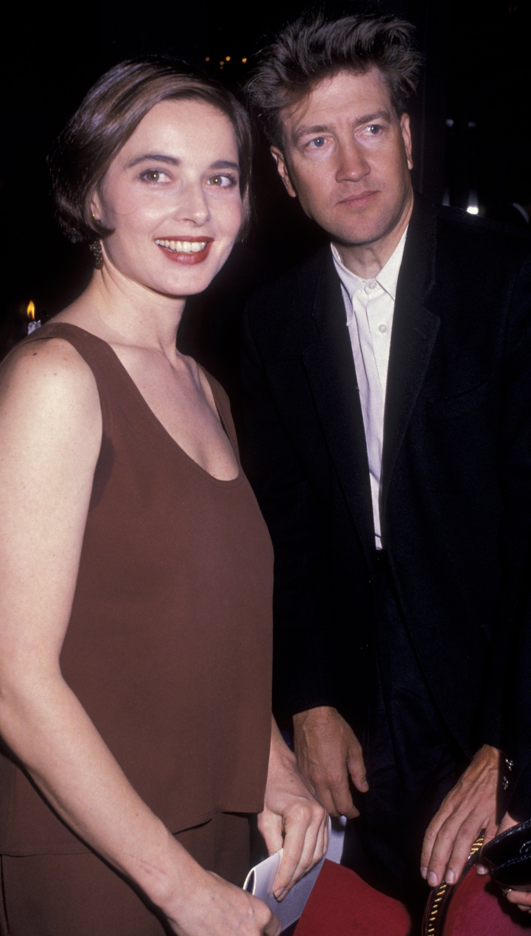 David Lynch and Isabella Rossellini at the Night of 100 Stars Gala in 1989 | Source: Getty Images