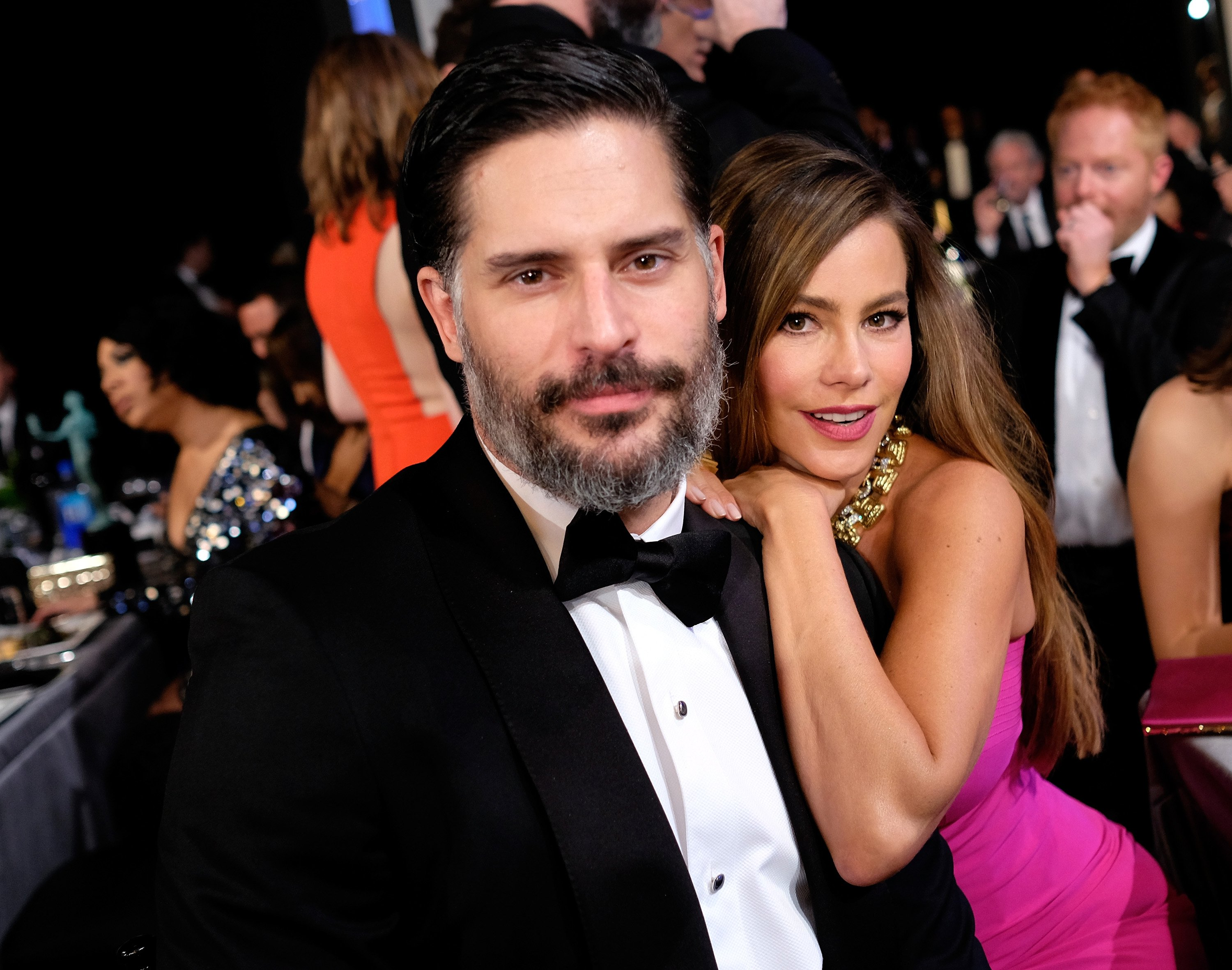 Joe Manganiello and Sofia Vergara attend The 22nd Annual Screen Actors Guild Awards on January 30, 2016 in Los Angeles, California. | Source: Getty Images.