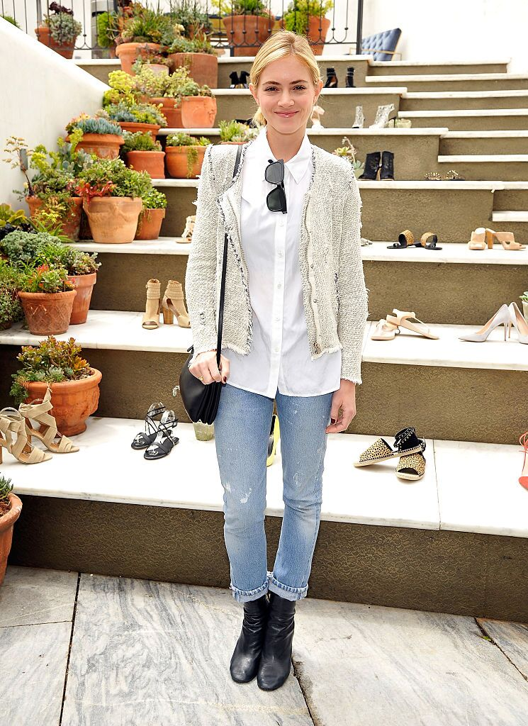Emily Wickersham attends RAYE shoe launch event hosted by Chrissy Teigen and Hillary Kerr held At Ysabel on May 7, 2015 in West Hollywood, California. | Source: Getty Images