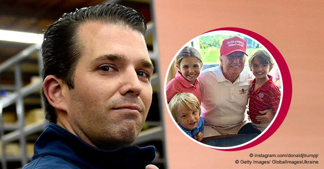 Donald Jr shares throwback pic of POTUS with grandchildren as he greets dad on President's Day