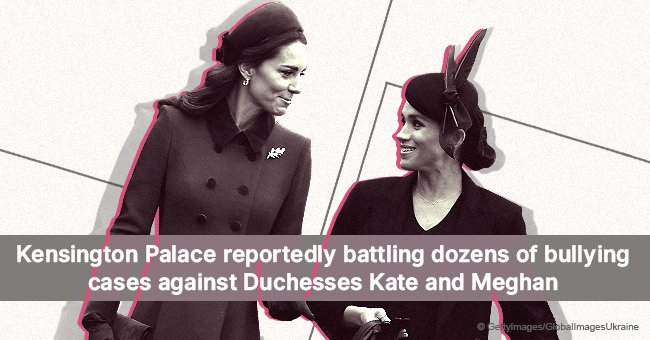 Kensington Palace reportedly battling dozens of bullying cases against Duchesses Kate and Meghan