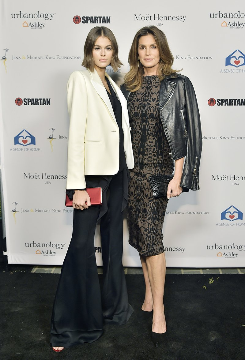 Kaia Gerber and Cindy Crawford attending A Sense Of Home's First Annual Gala in Beverly Hills, California in November 2019. I Image: Getty Images.