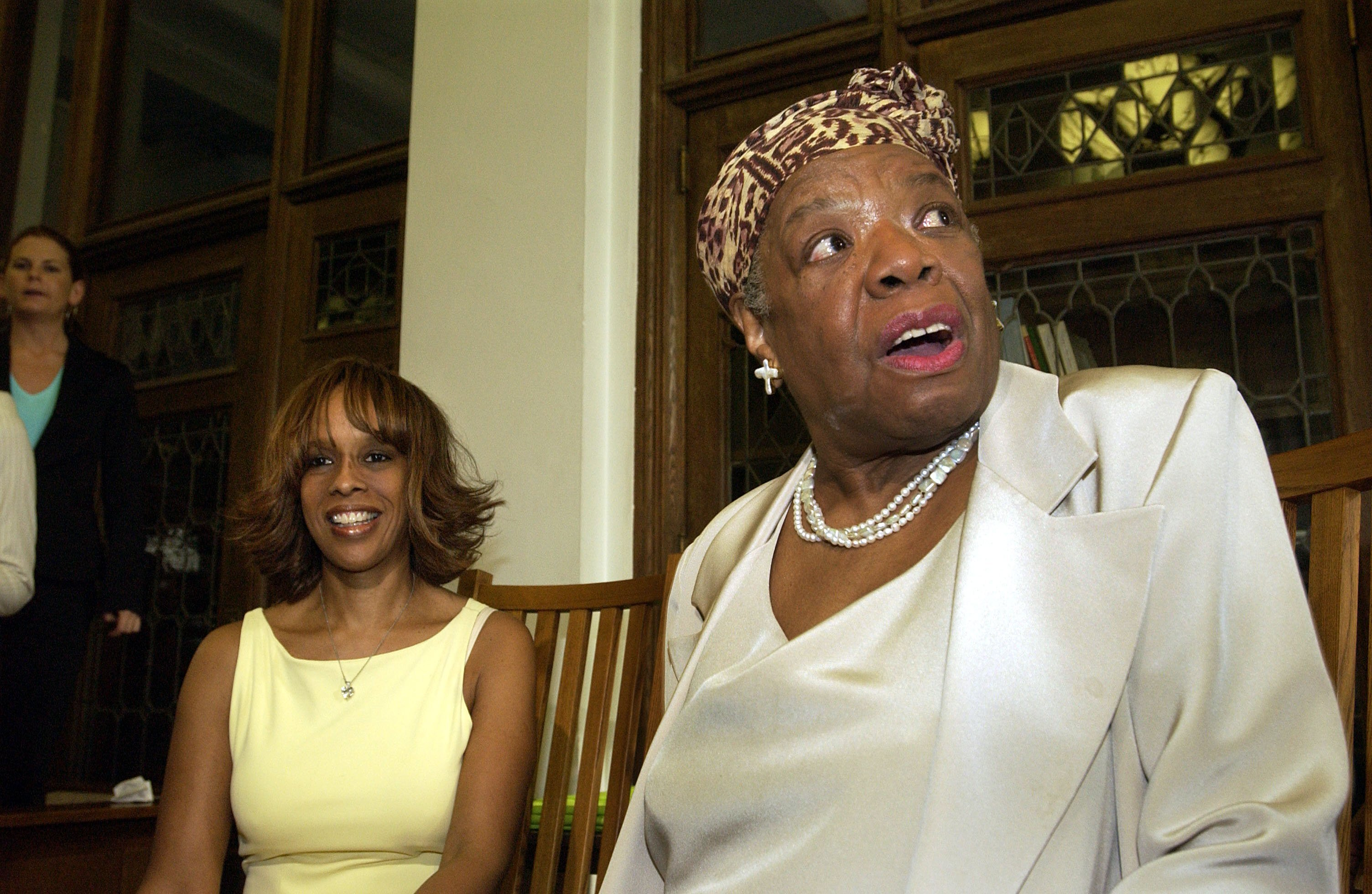 Maya Angelou at the Abyssian Development Corporation's Harlem Renaissance Day of Commitment, June 15, 2004. | Source: GettyImages/Global Images of Ukraine