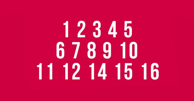 ¿Puedes encontrar el número que falta? Este test de concentración pondrá a trabajar tu cerebro