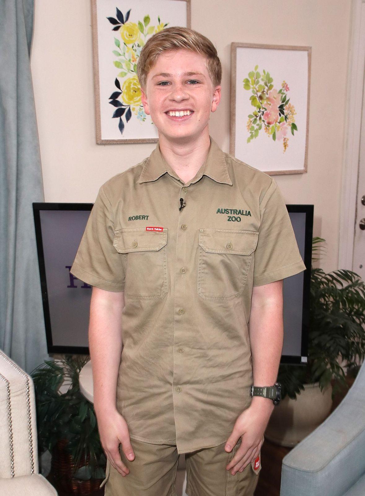 """Robert Irwin at Hallmark's """"Home & Family"""" at Universal Studios Hollywood on April 24, 2018 in California.