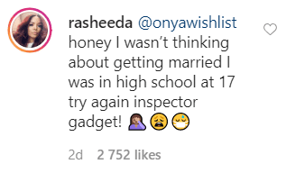 A screenshot of Rasheeda's response to a fan who inquired about her age when she married Kirk Frost. | Photo: Instagram/rasheeda