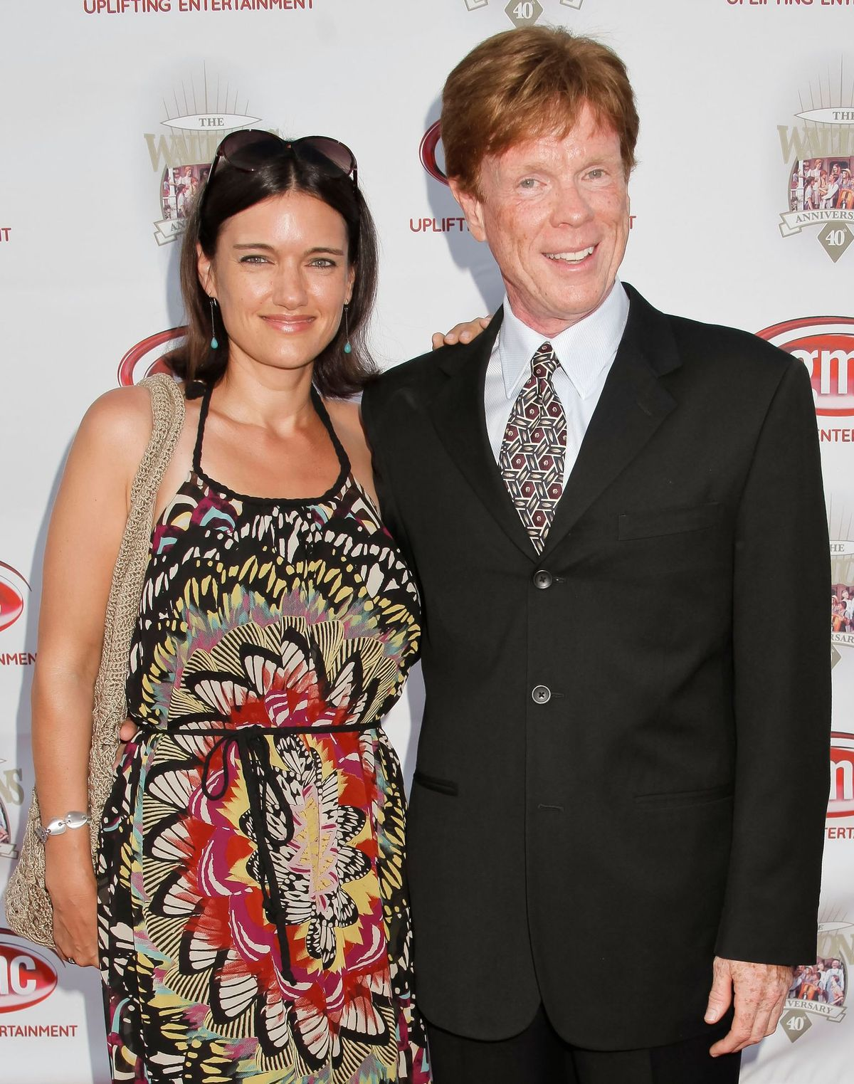 """Jon Walmsley and a guest atthe """"The Waltons""""40th anniversary reunion on September 29, 2012, in Los Angeles, California 
