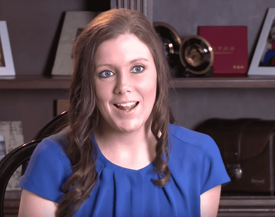 "Anna Duggar in a 2014 episode of ""Counting On"" where she talks about budgeting. 