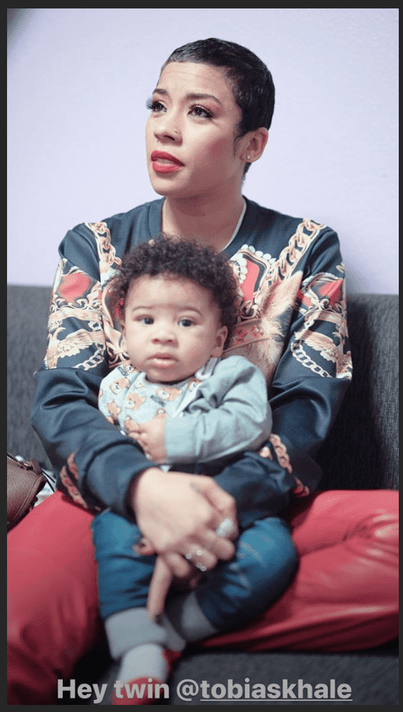 Screenshot of Keyshia Cole and her son, Tobias Khale | Photo: Instagram/keyshiacole