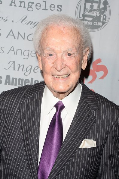 TV host Bob Barker arrives at the National Arts and Entertainment Journalism Awards Gala at Millennium Biltmore Hotel on December 6, 2015 in Los Angeles, California | Photo: Getty Images