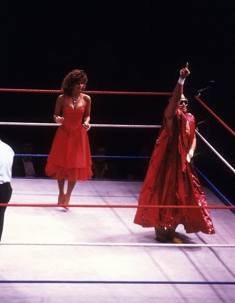 Randy Savage and Miss Elizabeth at the Madison Square Garden in New York, New York, circa 1987. | Photo: Getty Images