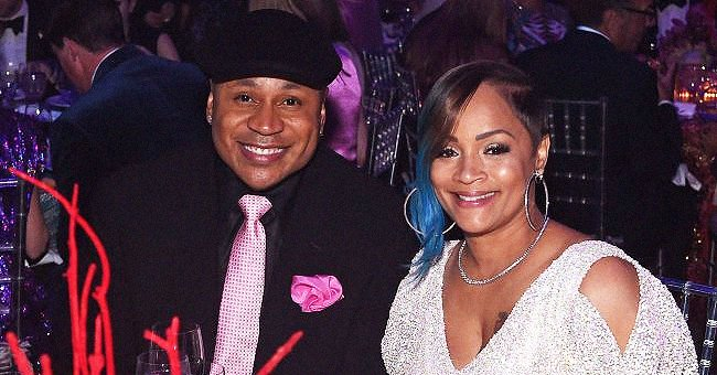 LL Cool J's Wife Simone Dons a Blue Floral Kimono & Matching Chanel Purse in Recent Photo