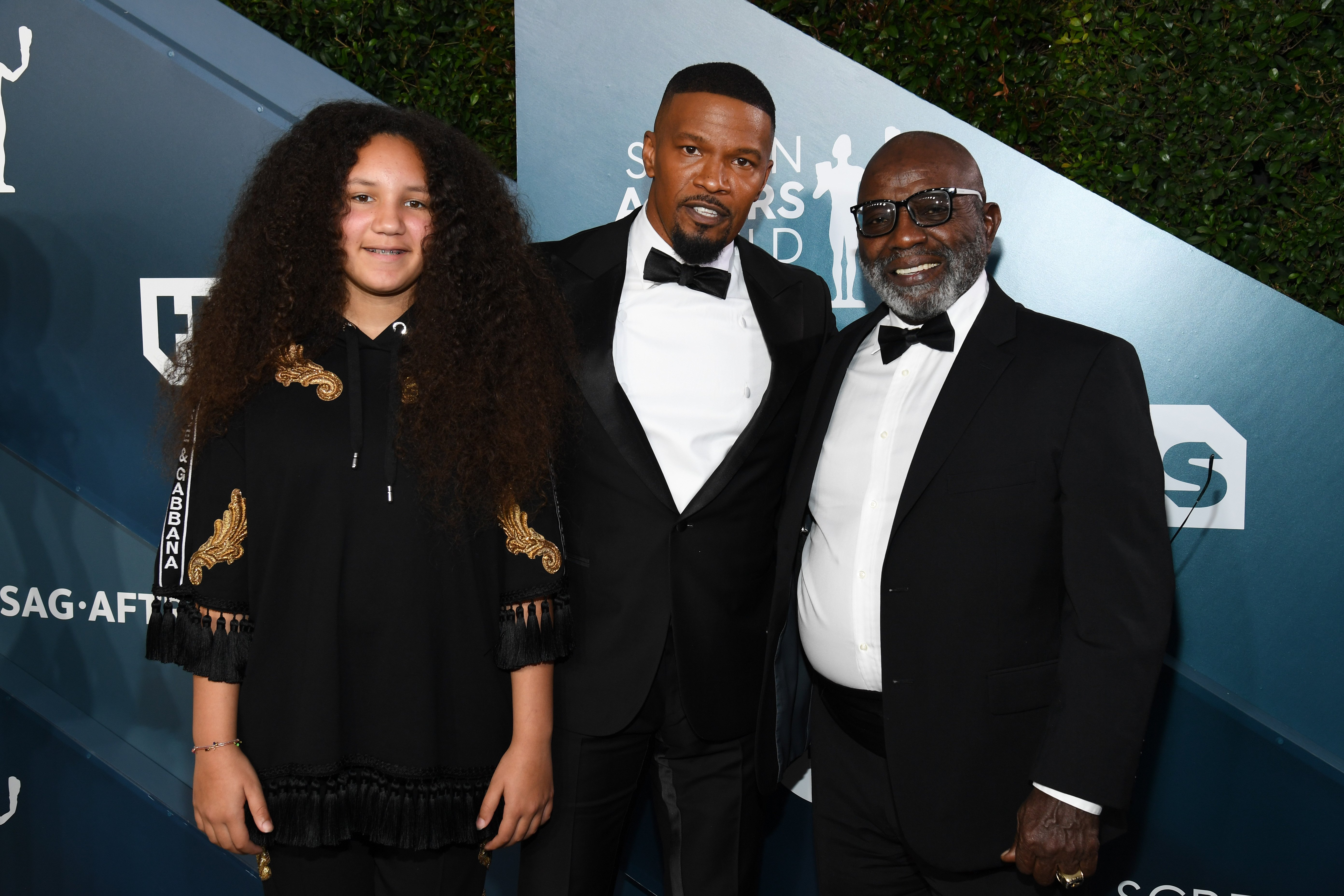 Annalise Bishop, Jamie Foxx and George Dixon attend the 26th Annual Screen Actors Guild Awards at The Shrine Auditorium on January 19, 2020 in Los Angeles, California.  | Photo: GettyImages