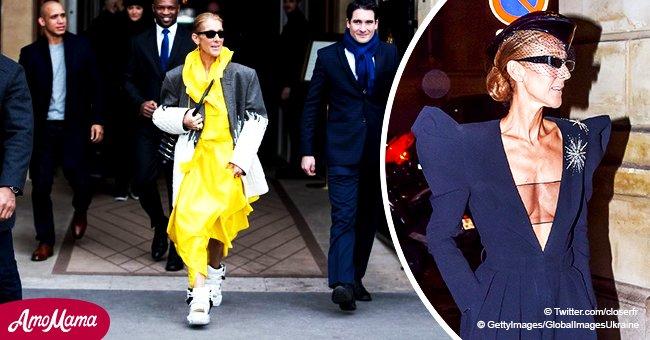 Céline Dion est sortie dans les rues de Paris dans une tenue jaune extravagante