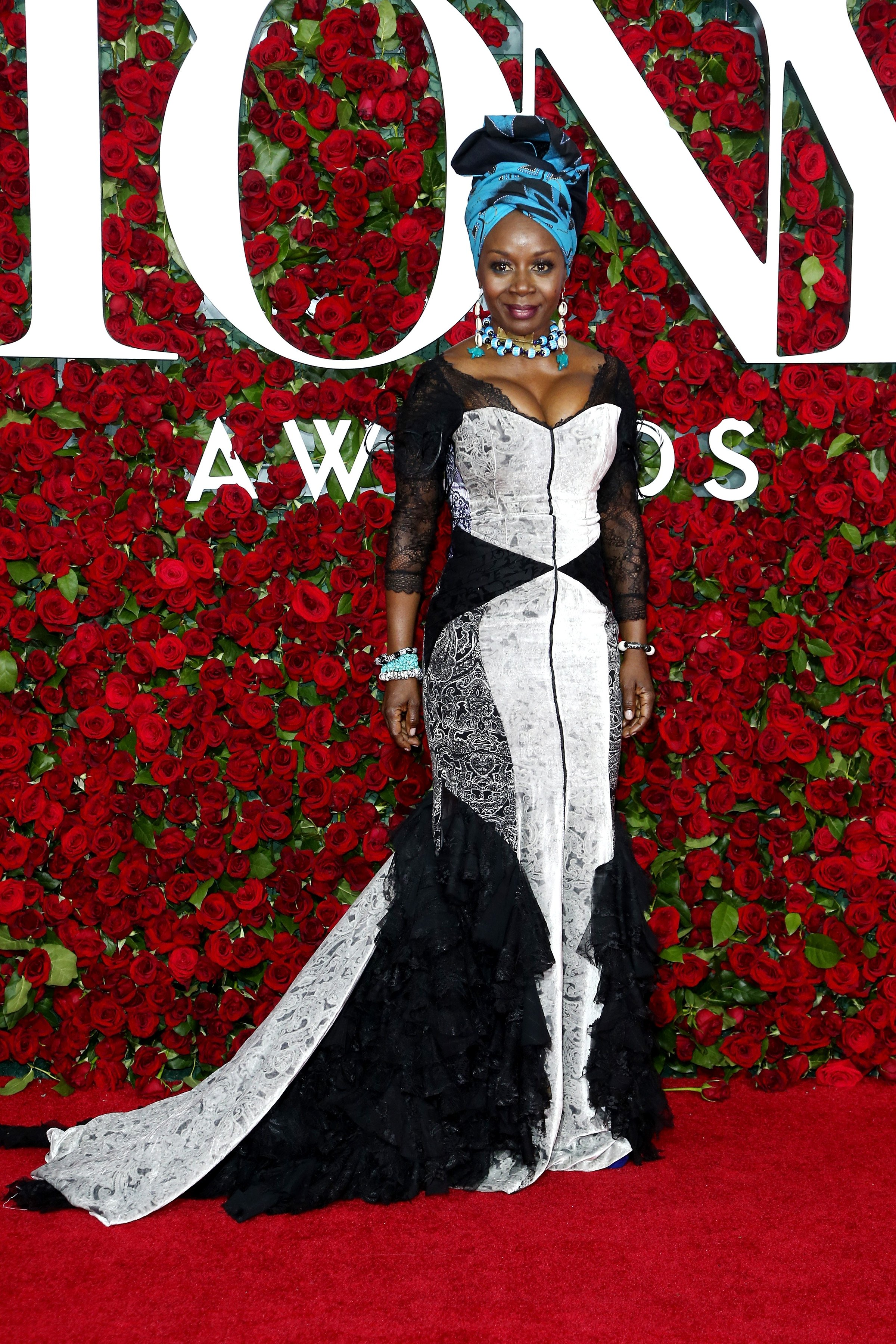 Akosua Busia at the 2016 Tony Awards at The Beacon Theatre on June 12, 2016   Photo: Getty Images