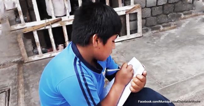 Un enfant de 12 ans est filmé en train d'utiliser l'éclairage public pour pouvoir faire ses devoirs et a fait réagir les internautes