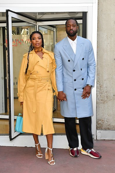 : Gabrielle Union and Dwyane Wade at the Lanvin Menswear Fall/Winter 2020-2021 show as part of Paris Fashion Week on January 19, 2020 in Paris, France.| Photo:Getty Images