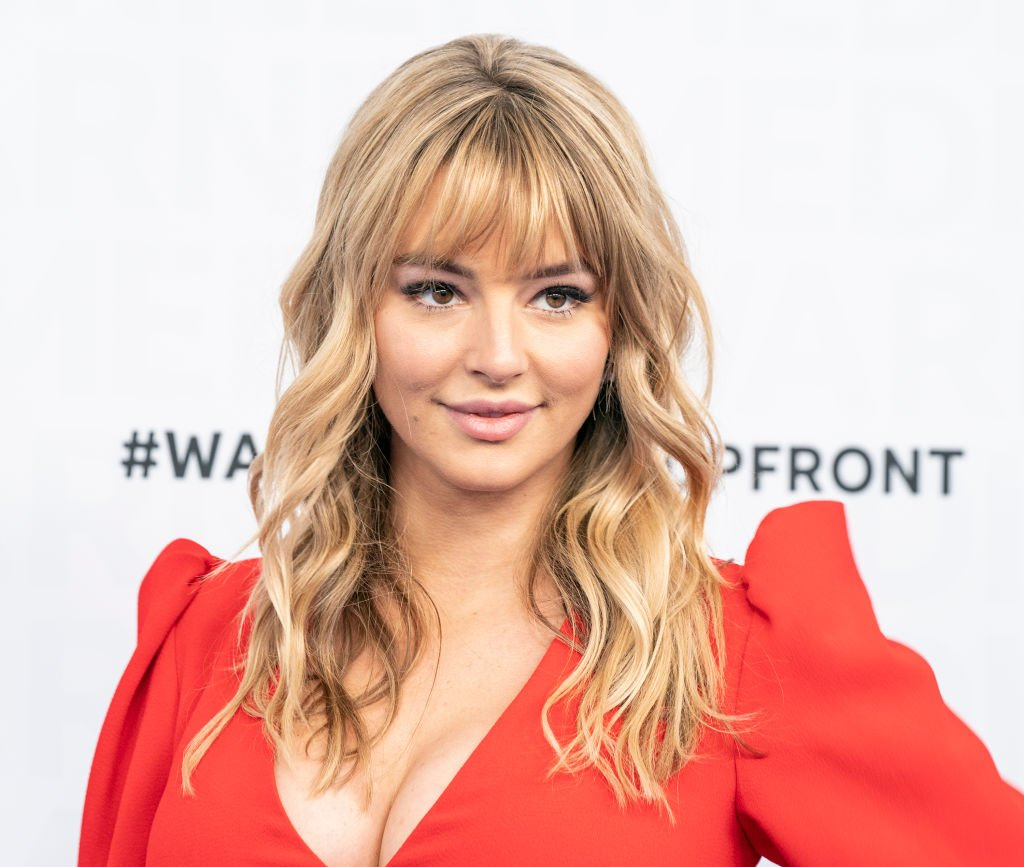 Hassie Harrison at WarnerMedia Upfront 2019 arrivals outside of The Theater at Madison Square Garden on May 15, 2019 | Photo: Getty Images