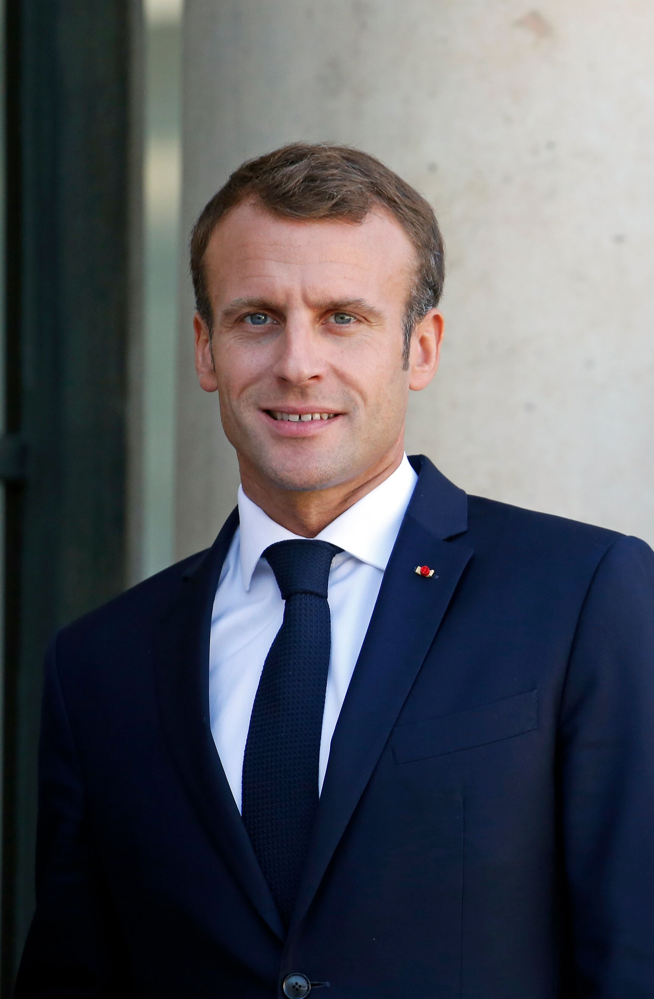 Emmanuel Macron qui sourit.   Photo : GettyImage