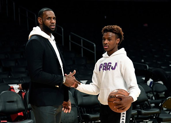 LeBron James and his son LeBron James Jr. on December 28, 2018 | Photo: Getty Images