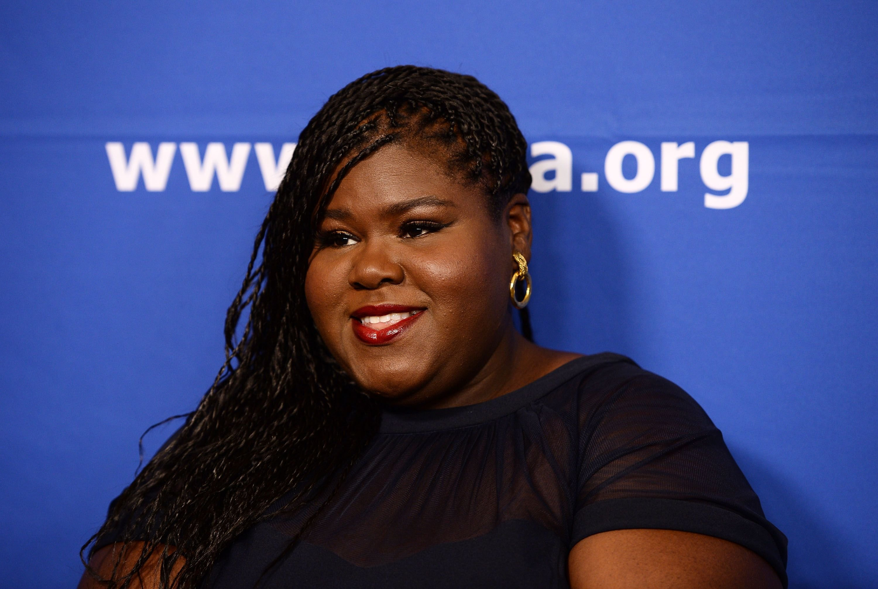 Gabourey Sidibe arrives at the Children's Defense Fund-California's 27th Annual Beat The Odds Awards, in December 2017 | Photo: Getty Images