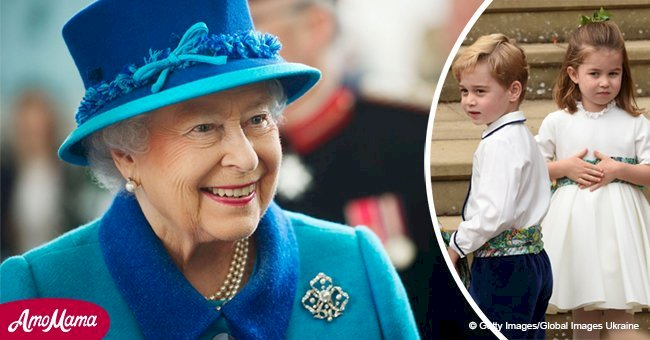 La Reina accidentalmente reveló una foto inédita del Príncipe George y la Princesa Charlotte