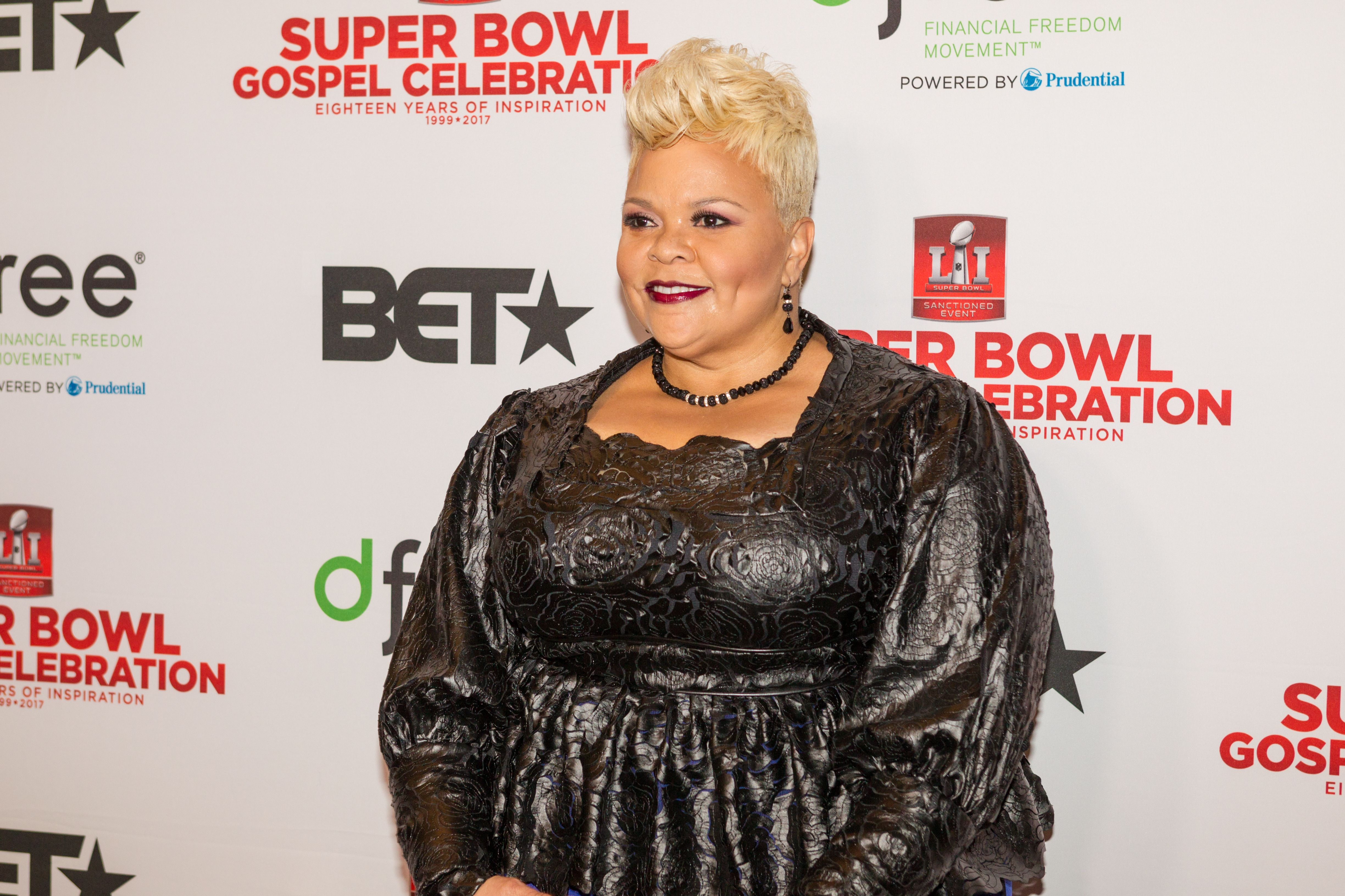 Tamela Mann attends BET's Super Bowl Gospel Celebration at Lakewood Church on February 3, 2017   Photo: Getty Images