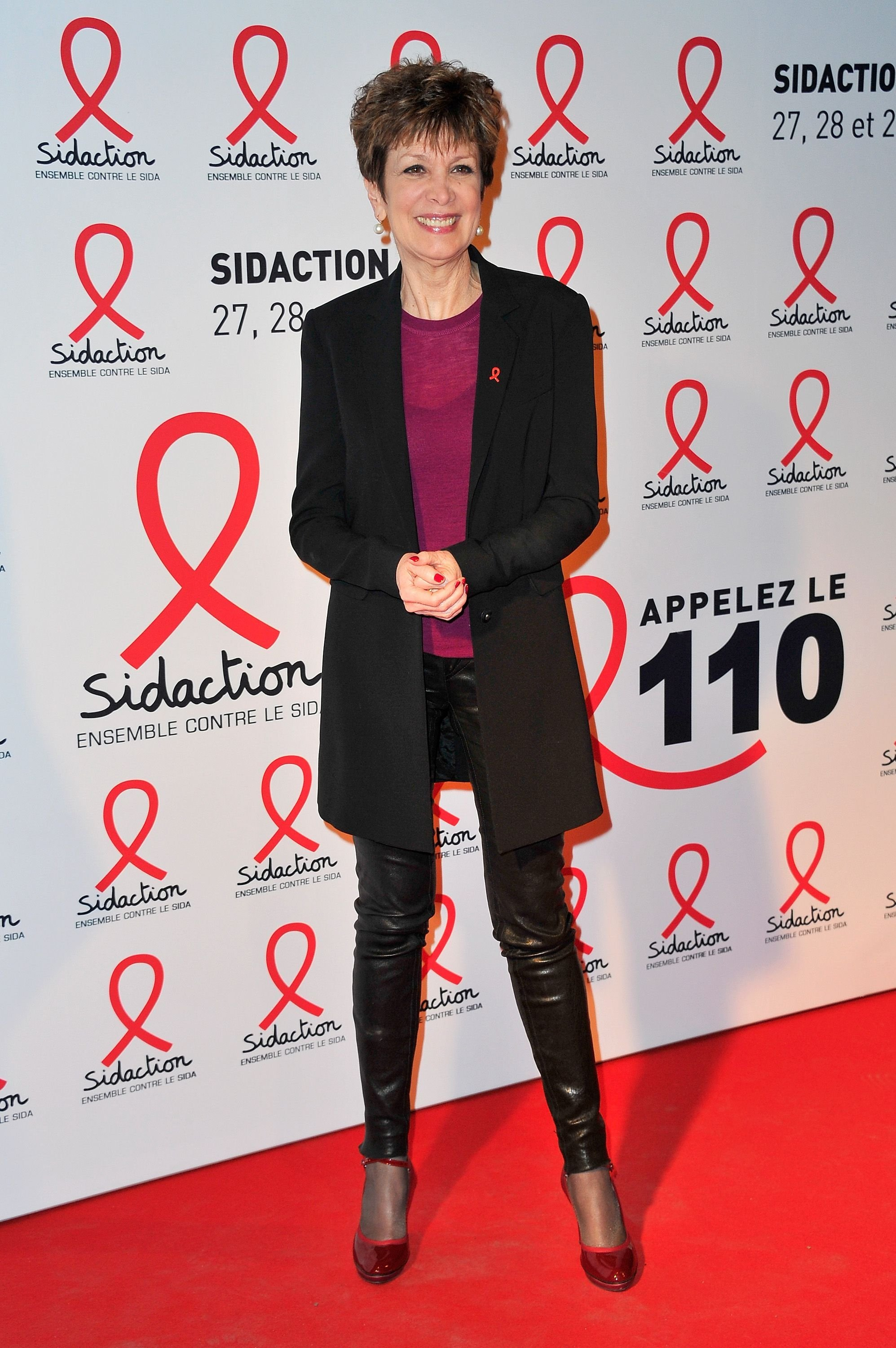 Catherine Laborde assiste à la Sidaction 2015 au Musée du Quai Branly. | Photo : Getty Images