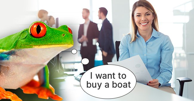 Daily Joke: Frog Wants to Take Out a $30,000 Bank Loan against Collateral