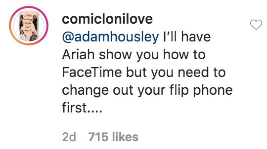 Loni love responded to comment from Adam Housley on a picture of her and her boyfriend James Welsh | Source: Instagram.com/comiclonilove