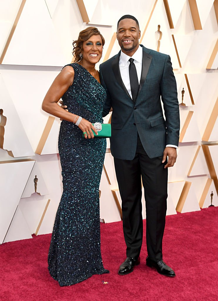 Robin Roberts and Michael Strahan attend the 92nd Annual Academy Awards,2020: Photo: Getty Images