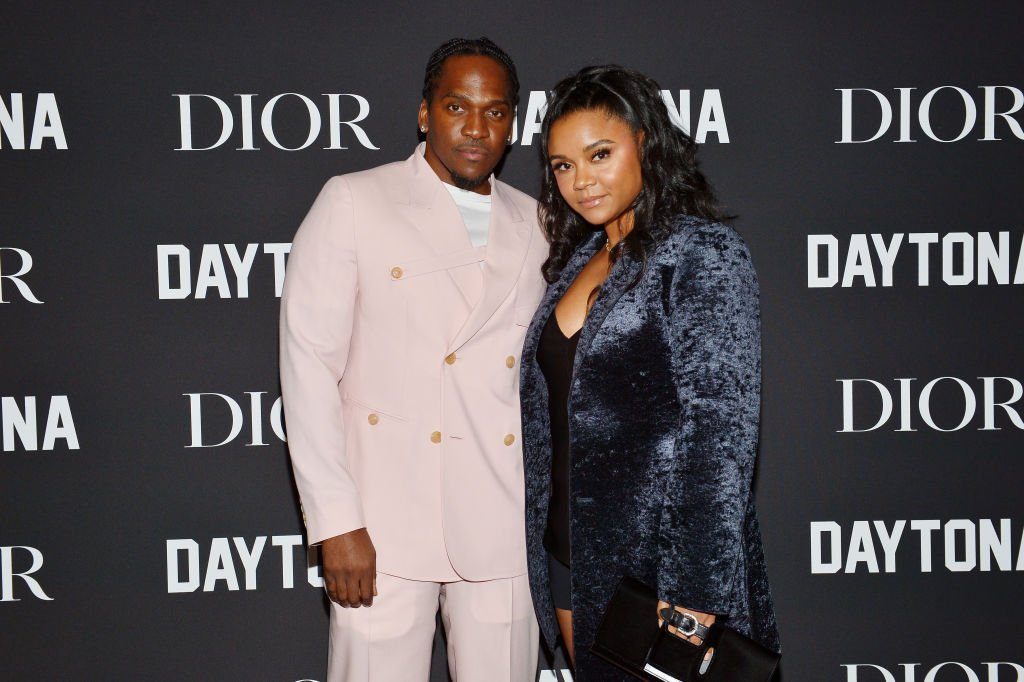 """Pusha T & Virginia Williams at Dior's celebration of Pusha T's Rap Album Of The Year recognition for """"Daytona"""" on February 08, 2019.   Photo: Getty Images"""