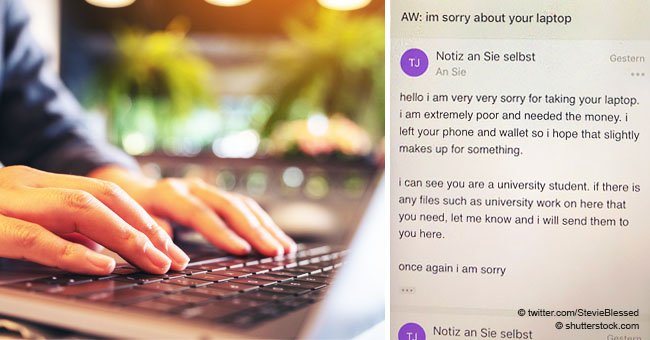 Guy receives strange letter of apology from thief who stole his laptop