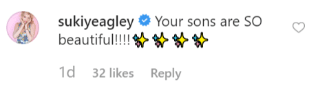 Susan Yeagley comments on Rita's post | Instagram: @rita wilson