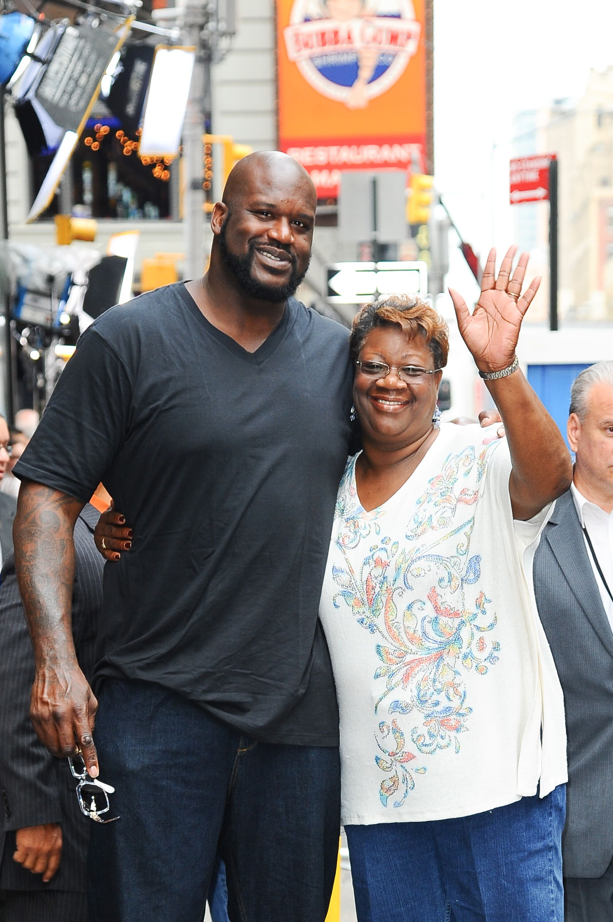 "Shaquille O'Neal and his mother Lucille O'Neal outside ""Good Morning America"" in New York City 